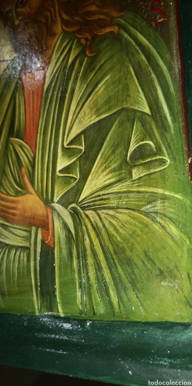 Arte: Antiguo icono pintado al óleo sobre tabla - Foto 3 - 220925017