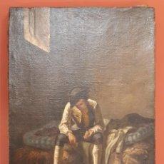 Arte: PRISIONERO. ÓLEO SOBRE LIENZO. FIRMADO Y FECHADO. 1860.. Lote 220925748