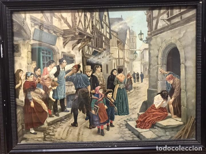 Arte: PINTURA AL ÓLEO SOBRE TABLA PRINCIPIOS S XX FIRMADA POR AUTOR NO IDENTIFICADO - Foto 3 - 221086417