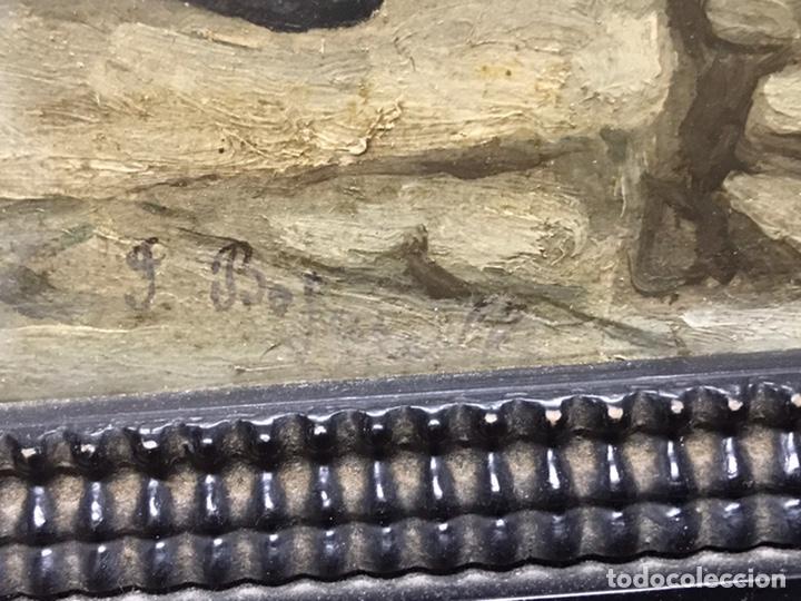 Arte: PINTURA AL ÓLEO SOBRE TABLA PRINCIPIOS S XX FIRMADA POR AUTOR NO IDENTIFICADO - Foto 14 - 221086417