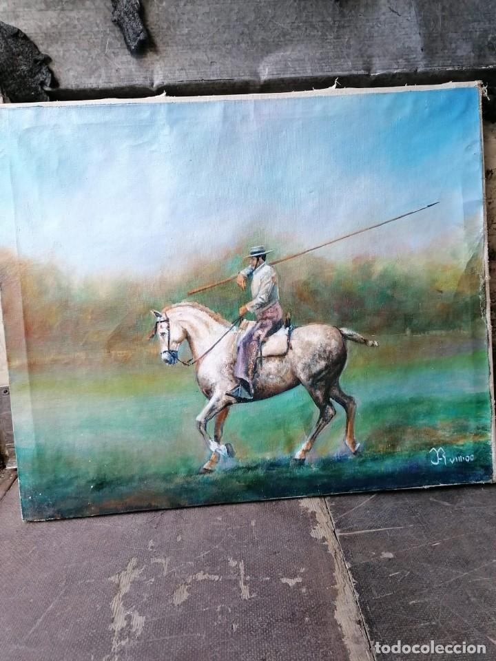 Arte: oleo caballo firmado - Foto 3 - 221093507