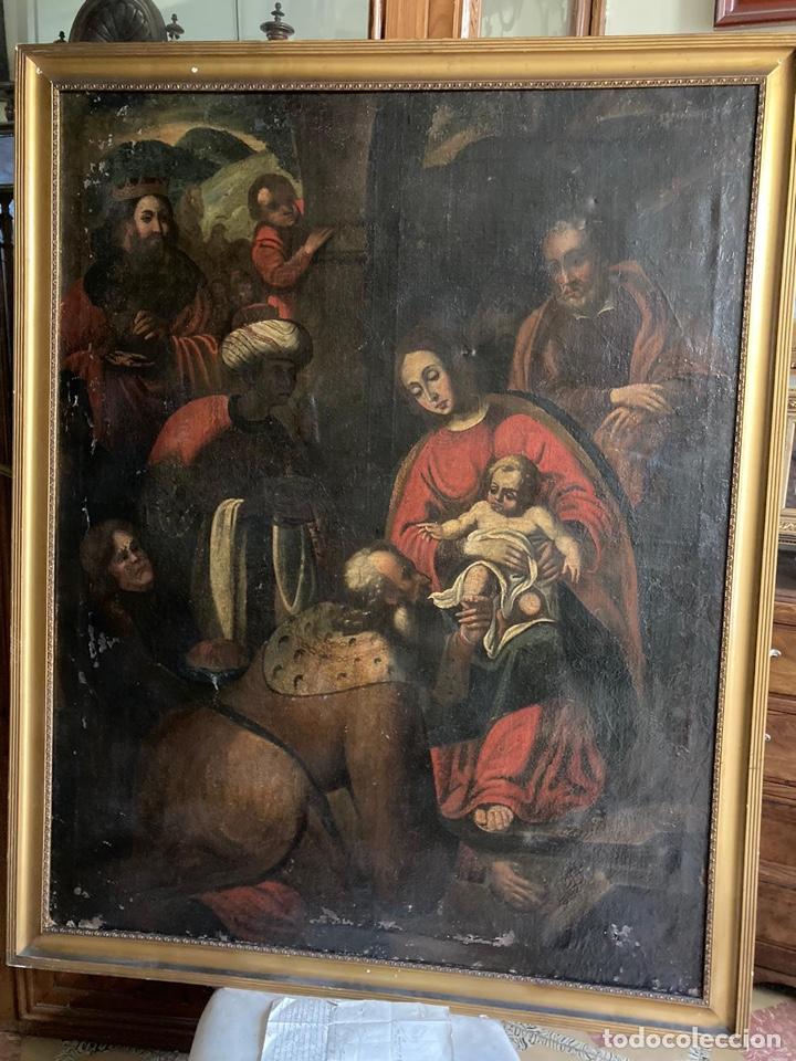 Arte: Gran Adoración de los Reyes S. XVII - Foto 2 - 221162212