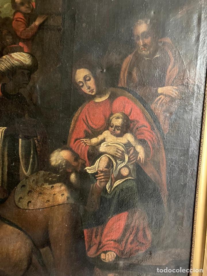 Arte: Gran Adoración de los Reyes S. XVII - Foto 3 - 221162212