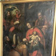 Arte: GRAN ADORACIÓN DE LOS REYES S. XVII. Lote 221162212