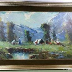 Arte: FREIXAS PAISAJE 55X92 OLEO TABLEX. Lote 221190456