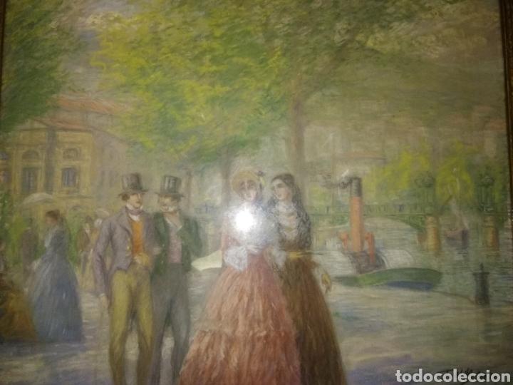 Arte: PINTURA JUAN DE ARECHALDE 1884-1959 FIRMADO JOALDE PASEO DEL ARENAL BILBAO PAIS VASCO GOUACHE VASCA - Foto 5 - 221236120