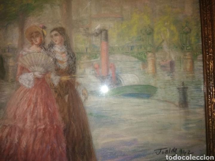 Arte: PINTURA JUAN DE ARECHALDE 1884-1959 FIRMADO JOALDE PASEO DEL ARENAL BILBAO PAIS VASCO GOUACHE VASCA - Foto 6 - 221236120