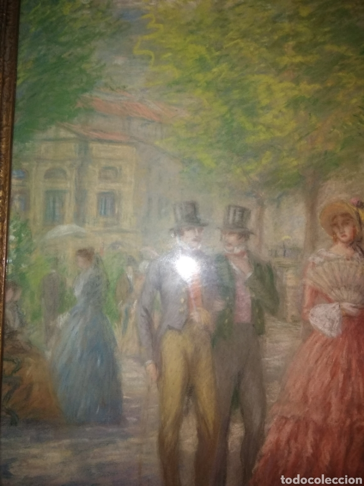 Arte: PINTURA JUAN DE ARECHALDE 1884-1959 FIRMADO JOALDE PASEO DEL ARENAL BILBAO PAIS VASCO GOUACHE VASCA - Foto 7 - 221236120