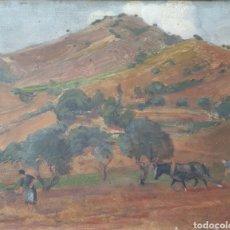Arte: IU PASCUAL I RODÉS (VILANOVA I LA GELTRÚ, 1883-1949) - ESCENA DE SIEGA.OLEO/TABLA.FIRMADO.1905. Lote 220441888