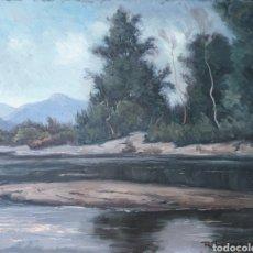 Arte: RICARDO TÁRREGA VILADOMS (BARCELONA, 1904-1999) - RIBERAS DEL TER.OLEO/TABLA.FIRMADO.TITULADO.. Lote 220441198