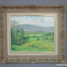 Arte: JOSEP POMÉS (TARRAGONA 1940) - PUIGCERDÀ - ÓLEO SOBRE TABLEX. Lote 221273587