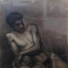 Arte: LAGO RIVERA , ANTONIO. (A CORUÑA 1916-PARÍS 1990). DESNUDO MASCULINO. GRAFITO SOBRE PAPEL.. Lote 221295511