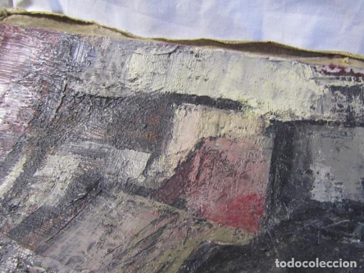Arte: Óleo pintado sobre lienzo retrato de mujer. Firma Aceves 1965, 79 x 59 cm - Foto 13 - 221302057