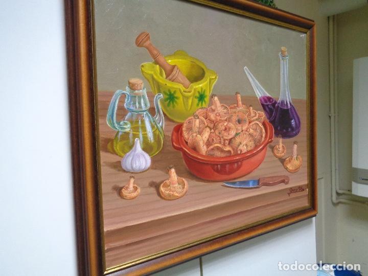 Arte: óleo sobre lienzo, bodegón pintor Pere Pla - Foto 2 - 221355411