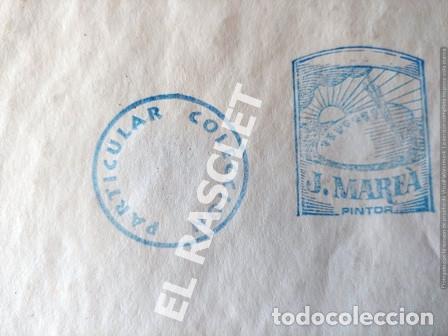 Arte: DIBUJO A TINTA A COLOR - MUSA DEL PINTOR ACUARELISTA - JOSEP MARFA GUARRO BCN - AÑO 1979 - - Foto 7 - 221397168