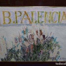 Arte: TECNICA MIXTA DE BENJAMIN PALENCIA 1966.CERAS, ROTULADOS, COLORES.. Lote 221417546