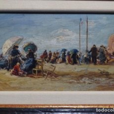Arte: EXCELENTE ÓLEO SOBRE TABLA ANONIMO DE ESCUELA VALENCIANA.PRINCIPIO SIGLO XX.. Lote 221424562