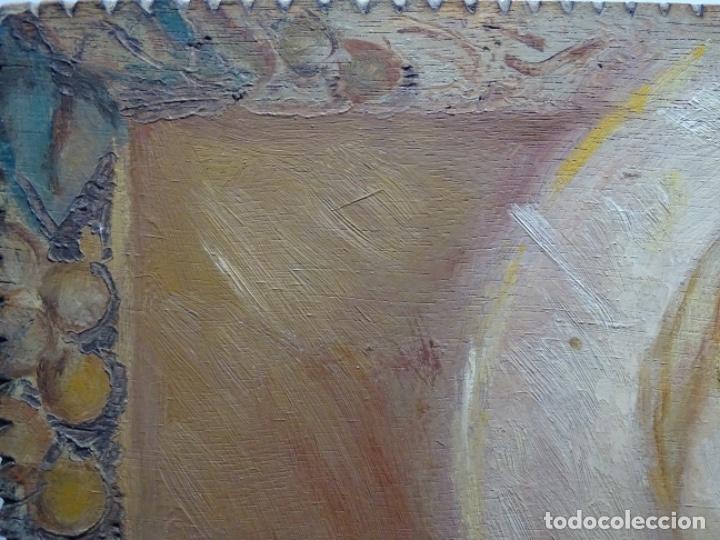 Arte: ÓLEO SOBRE TABLEX ANONIMO.NIÑO JESÚS CON CRUZ.BUEN TRAZO. - Foto 18 - 221426802