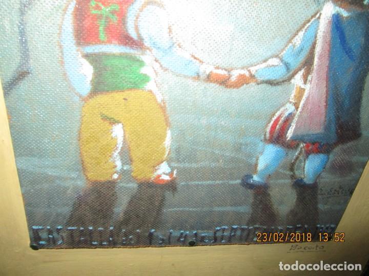 Arte: pintura al oleo alicante fiestas moros y cristianos castalla firmado honor virgen soledad - Foto 2 - 221441043