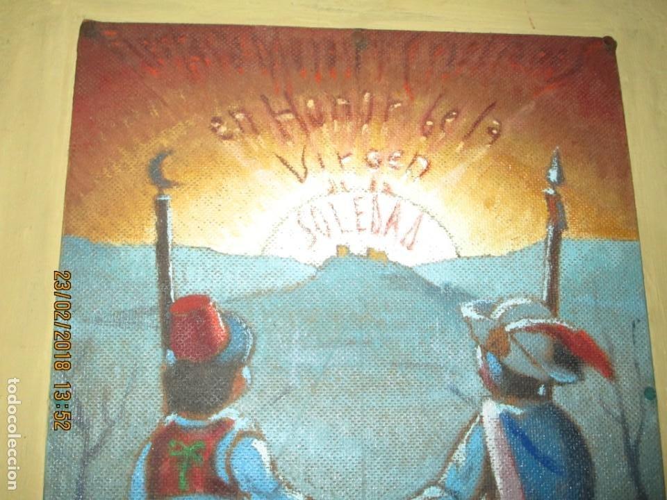 Arte: pintura al oleo alicante fiestas moros y cristianos castalla firmado honor virgen soledad - Foto 5 - 221441043
