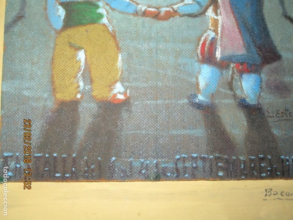 Arte: pintura al oleo alicante fiestas moros y cristianos castalla firmado honor virgen soledad - Foto 6 - 221441043