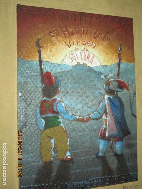 Arte: pintura al oleo alicante fiestas moros y cristianos castalla firmado honor virgen soledad - Foto 7 - 221441043