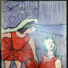 Arte: DIBUJO SOBRE CARTULINA 70 X 50 - SANTY 1996. Lote 221443626