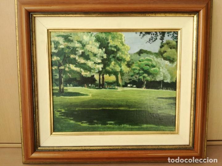 Arte: ESCUELA CATALANA PAISAJE FIRMADO EN LA PARTE INFERIOR DERECHA PERFECTAMENTE ENMARCADO - Foto 2 - 221456828