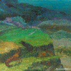 Arte: VICENTE OLIVER (1861-1930) ÓLEO SOBRE LIENZO FONDO MARINO FIRMADO. Lote 221481020