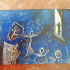 Arte: ANONIMO. TECNICA MIXTA SOBRE CARTULINA. PERSONAJES. Lote 221541647