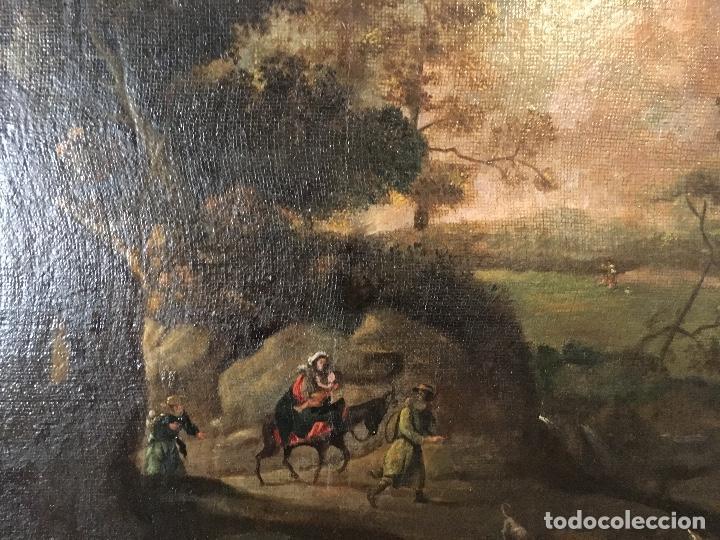 HUIDA DE EGIPTO (Arte - Pintura - Pintura al Óleo Antigua siglo XVII)
