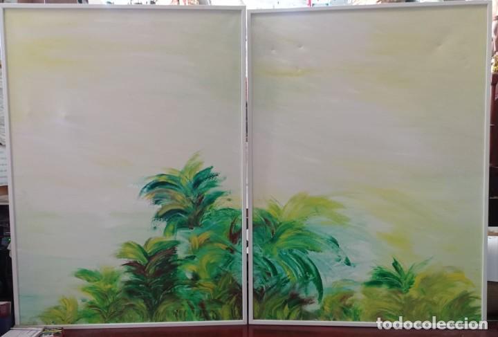 2 OLEOS SOBRE LIENZO PAISAJE (Arte - Pintura - Pintura al Óleo Contemporánea )