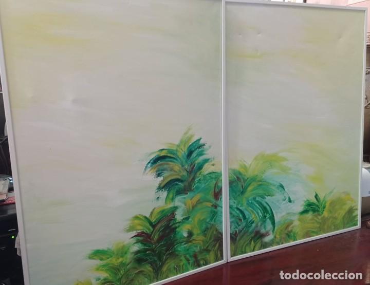 Arte: 2 OLEOS SOBRE LIENZO PAISAJE - Foto 2 - 221561862