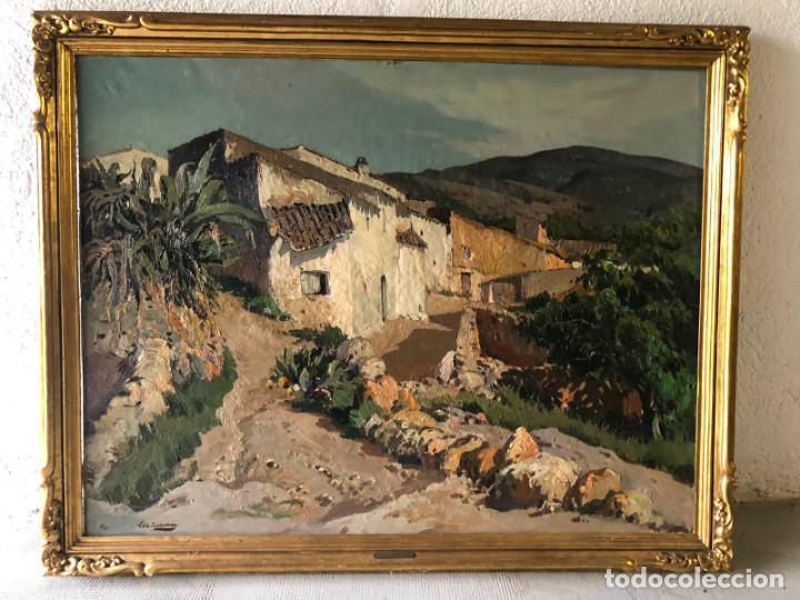 VILÁ CAÑELLAS, JOSÉ MARIA (1914-2001). ÓLEO SOBRE LIENZO. PAISAJE RURAL GRAN FORMATO (Arte - Pintura - Pintura al Óleo Contemporánea )