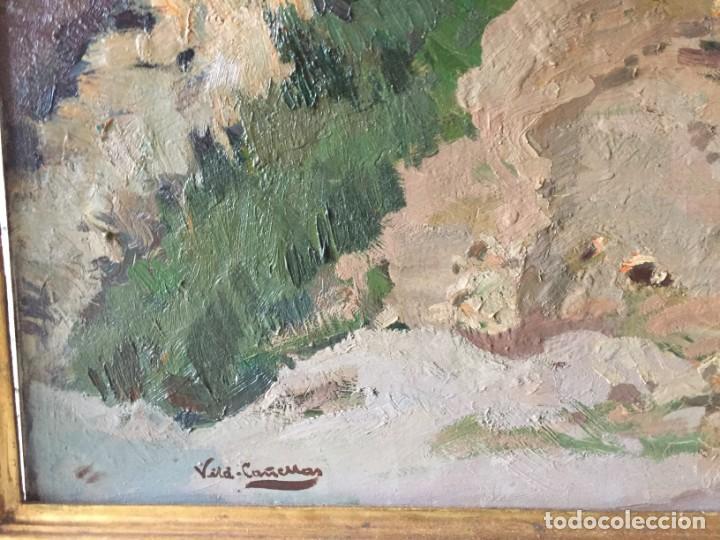 Arte: Vilá Cañellas, José Maria (1914-2001). Óleo sobre lienzo. Paisaje rural gran formato - Foto 2 - 221585560