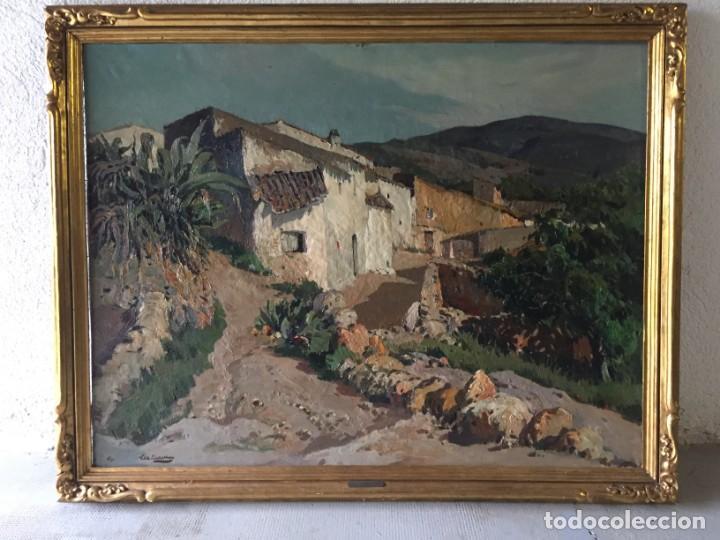 Arte: Vilá Cañellas, José Maria (1914-2001). Óleo sobre lienzo. Paisaje rural gran formato - Foto 4 - 221585560