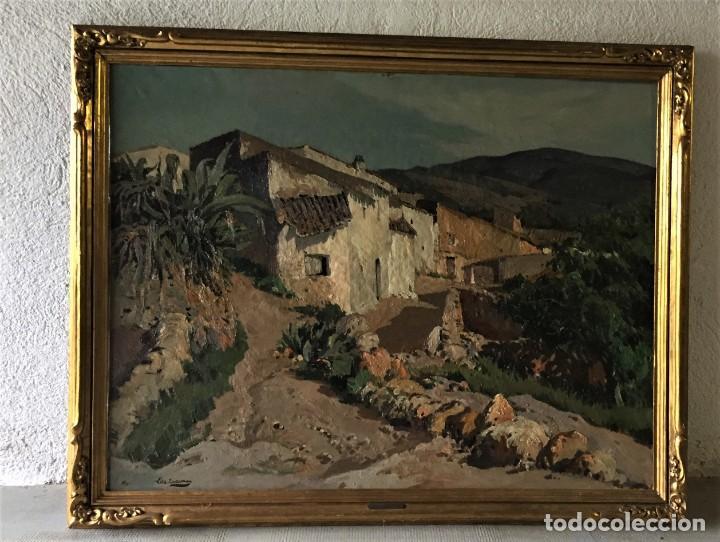 Arte: Vilá Cañellas, José Maria (1914-2001). Óleo sobre lienzo. Paisaje rural gran formato - Foto 5 - 221585560