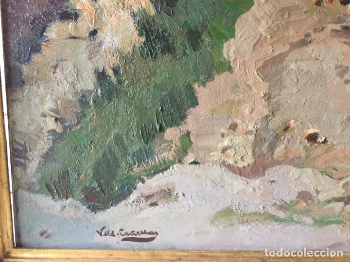 Arte: Vilá Cañellas, José Maria (1914-2001). Óleo sobre lienzo. Paisaje rural gran formato - Foto 6 - 221585560