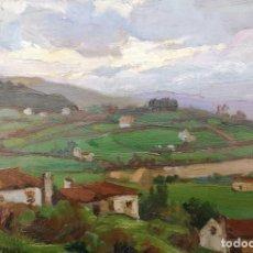 Arte: SEIJO RUBIO, JOSÉ (MADRID 1881- CORUÑA 1970). ALDEA. ÓLEO SOBRE TABLA.. Lote 221585928