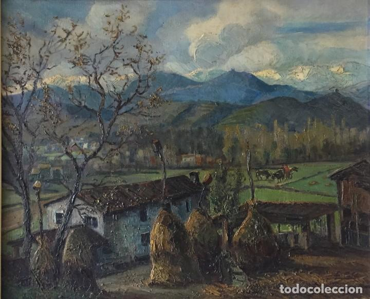 EVELIO PALÁ BOFILL 1886 / 1961.PAISAJE, ÓLEO SOBRE LIENZO, GRAN FORMATO.PINTURA CATALANA (Arte - Pintura - Pintura al Óleo Contemporánea )