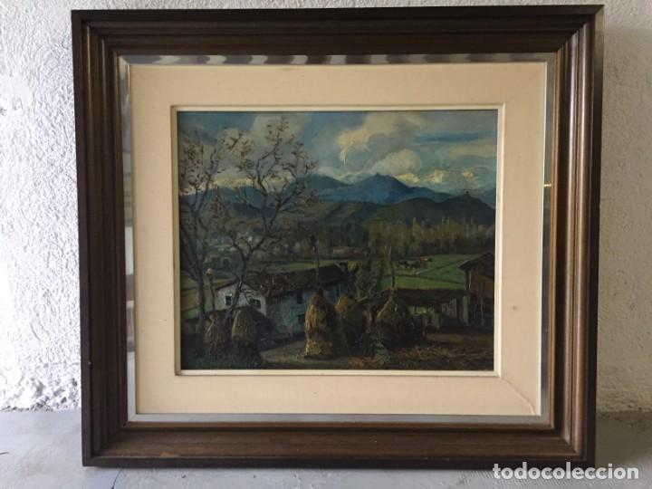 Arte: Evelio Palá Bofill 1886 / 1961.Paisaje, óleo sobre lienzo, gran formato.Pintura Catalana - Foto 2 - 221594327