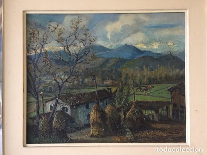 Arte: Evelio Palá Bofill 1886 / 1961.Paisaje, óleo sobre lienzo, gran formato.Pintura Catalana - Foto 3 - 221594327