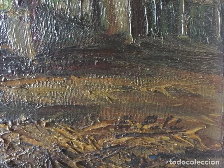 Arte: Evelio Palá Bofill 1886 / 1961.Paisaje, óleo sobre lienzo, gran formato.Pintura Catalana - Foto 4 - 221594327