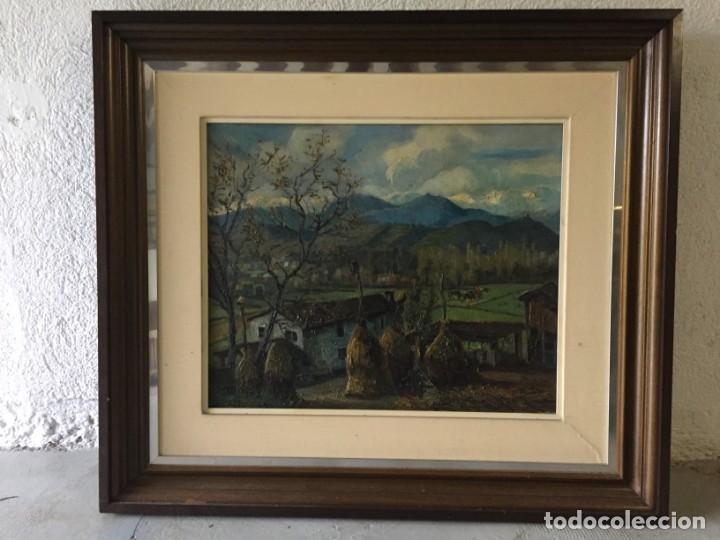 Arte: Evelio Palá Bofill 1886 / 1961.Paisaje, óleo sobre lienzo, gran formato.Pintura Catalana - Foto 5 - 221594327