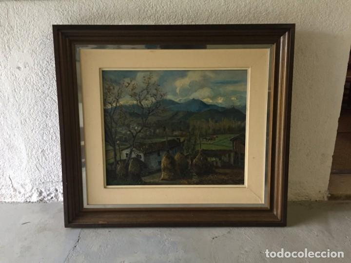 Arte: Evelio Palá Bofill 1886 / 1961.Paisaje, óleo sobre lienzo, gran formato.Pintura Catalana - Foto 7 - 221594327