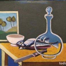 Arte: TOMÁS PEREIRA REVUELTA (CORUÑA 1929-1993). BODEGÓN. ÓLEO SOBRE TABLA.. Lote 221596542