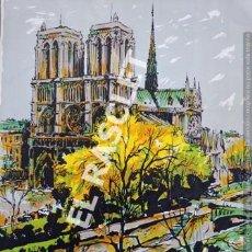 Arte: PINTURA A TINTA Y COLORES DE NOTRE DANE - PARIS - DE JOSEP MARFA GUARRO DE BCN -. Lote 221604080