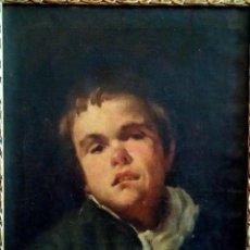 Arte: DIEGO VELÁZQUEZ (1599-1660) (CÍRCULO, TALLER). ÓLEO/LIENZO 49 X 37,5 CM. BUSTO DE FRANCISCO LEZCANO.. Lote 221608383