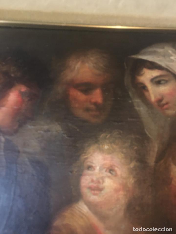 Arte: (M-R/C) ANTIGUA PINTURA AL OLEO SOBRE TABLA DE MADERA S. XVIII - original de la època , no reproducc - Foto 4 - 221647915