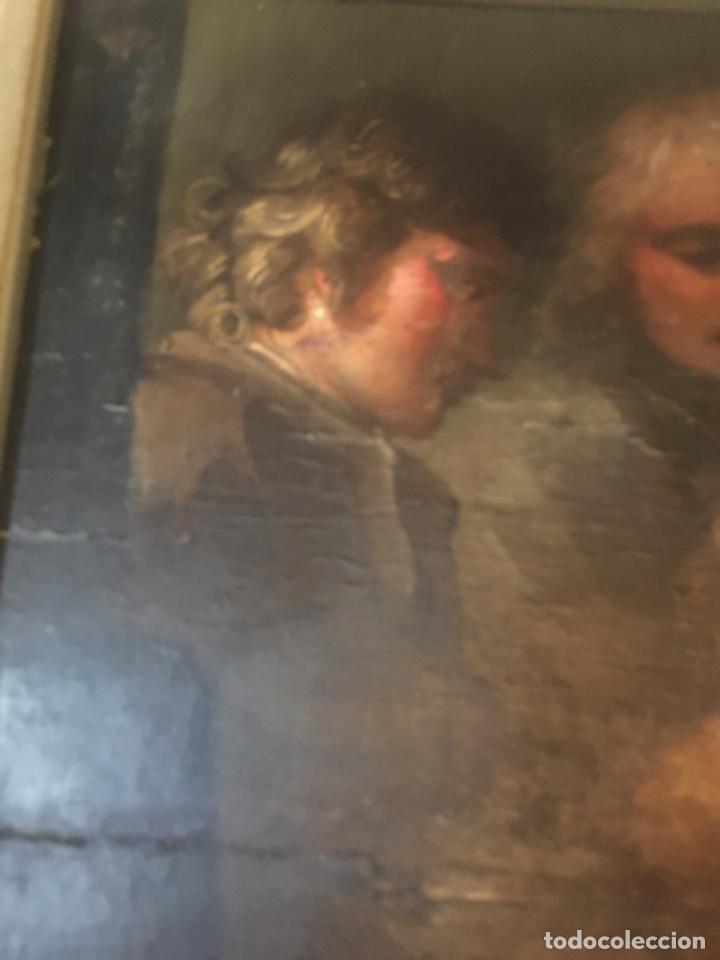 Arte: (M-R/C) ANTIGUA PINTURA AL OLEO SOBRE TABLA DE MADERA S. XVIII - original de la època , no reproducc - Foto 5 - 221647915